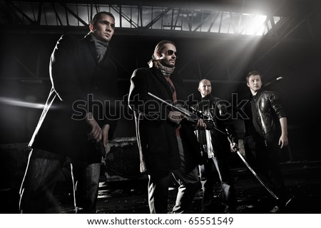 Gangster members - stock photo
