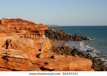 Gantheaume Point, Broome, Australia - stock photo