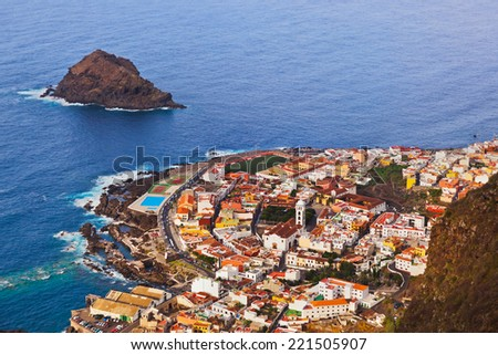 Garachico in Tenerife island - Canary Spain - stock photo