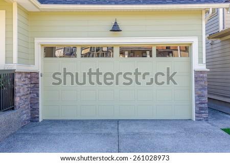 Garage door in Vancouver, Canada. - stock photo