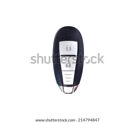 Garage remote control over isolated on a white background - stock photo