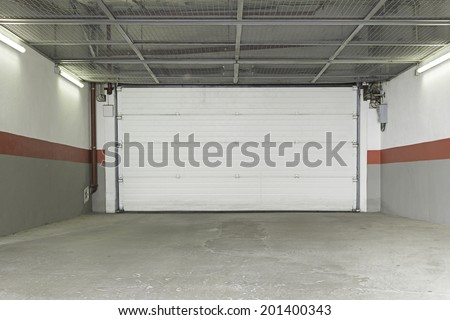 Garage urban house construction and shelter - stock photo
