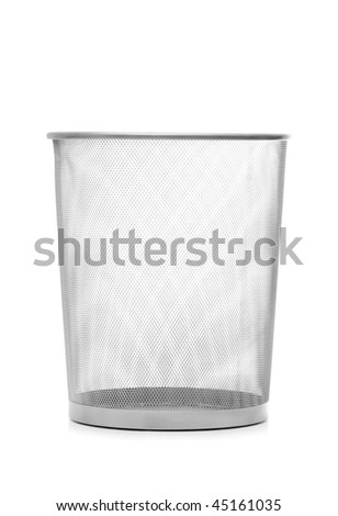 Garbage bin isolated on the white background - stock photo