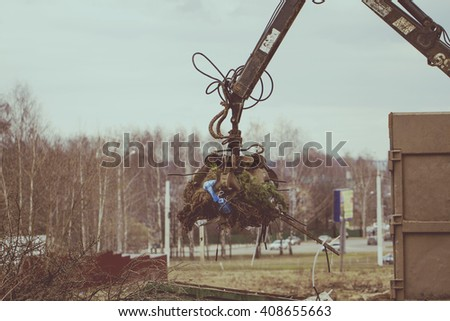 Garbage collection - stock photo
