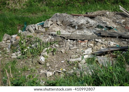Garbage dump - stock photo