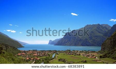 Garda lake - stock photo