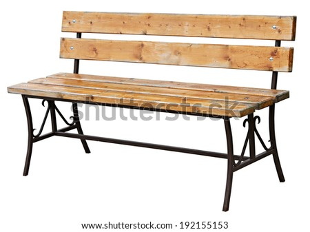 garden bench isolated on white a background  - stock photo