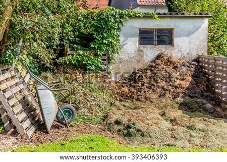 garden compost - stock photo