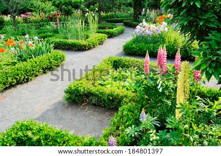 Garden Design - stock photo