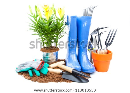 garden equipment - stock photo