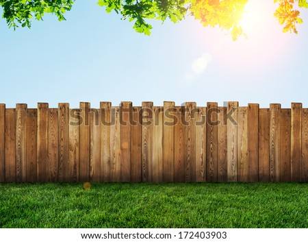 garden fence - stock photo