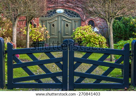 Garden gate - stock photo