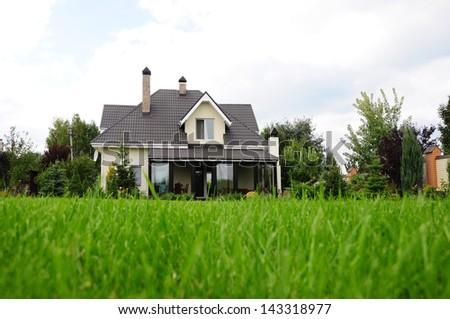 garden of a house - stock photo