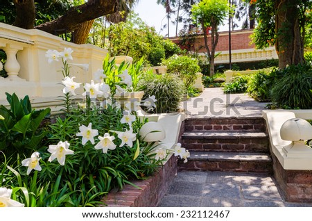 Garden of Dreams. Kathmandu. Nepal - stock photo