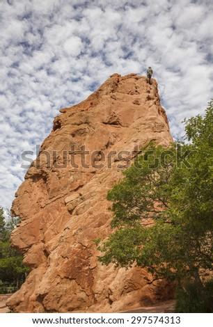 Garden of the Gods Colorado Springs Colorado - stock photo