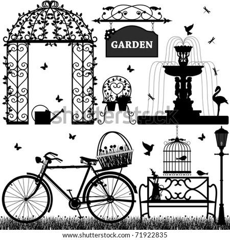 Garden Park Outdoor Recreational - stock photo