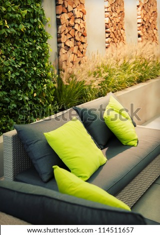 garden place - stock photo
