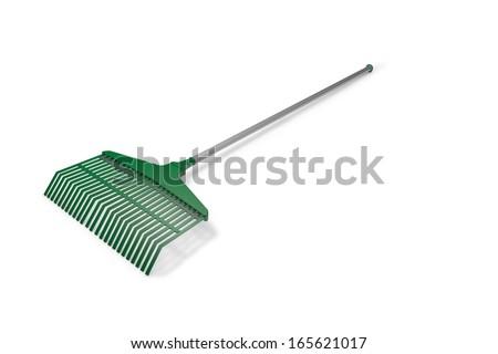 Garden rake - stock photo