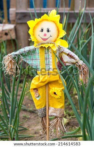 Garden scarecrow - stock photo