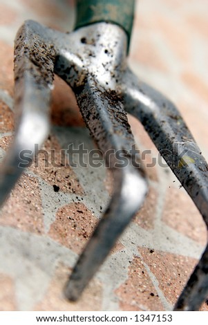 Garden tongs - stock photo