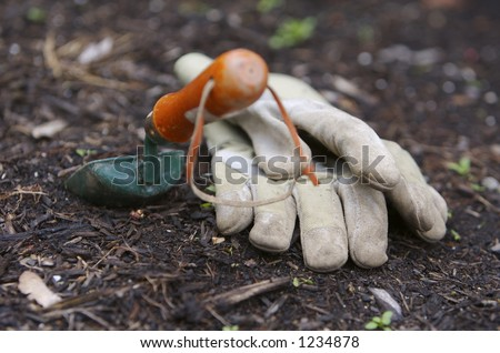 Garden Tools - stock photo