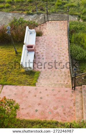 Garden Walkway - stock photo