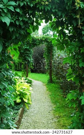 garden way - stock photo
