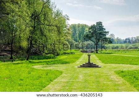 Gardens at Hutton in the Forest, Cumbria, England - stock photo