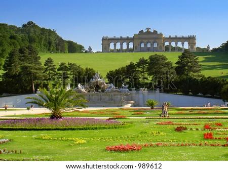 gardens in Vienna - stock photo
