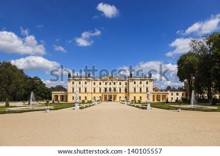 Gardens of the Palace Branicki in Bialystok, Poland. - stock photo