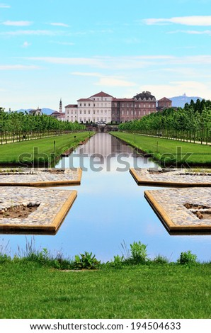 Gardens venaria real, turin, Italy (UNESCO heritage)  - stock photo