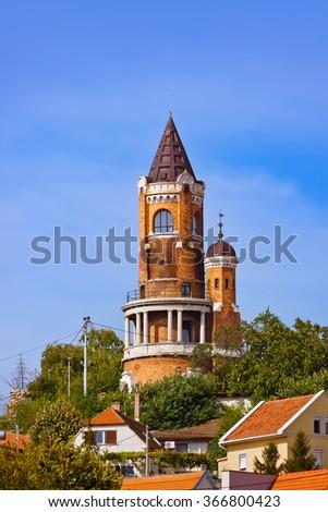 Gardos Tower in Zemun - Belgrade Serbia - architecture travel background - stock photo