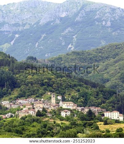 Garfagnana (Lucca, Tuscany, Italy): old typical village - stock photo