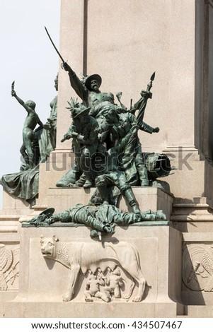 Garibaldi Monument on Janiculum Hill in Rome, Italy - stock photo