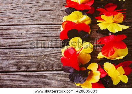 Garland in color or german flag for soccer supporter  - stock photo