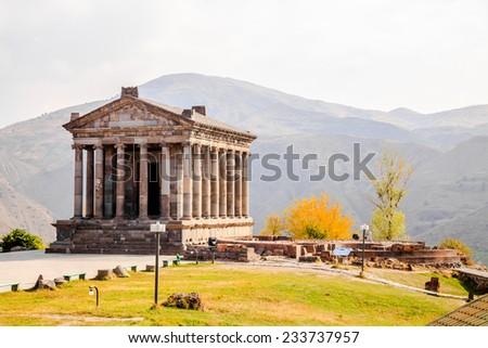 Garni Temple is the hellenistic temple in Republic of Armenia - stock photo