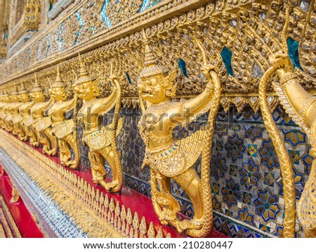 Garuda in Thailand temple. - stock photo