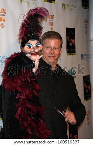 "Gary Holland with Madame at the ""Enter Miss Thang"" Book Launch Party, Cafe Habana, Malibu, CA 10-21-13 - stock photo"