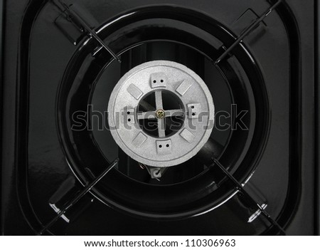 gas burner top view - stock photo