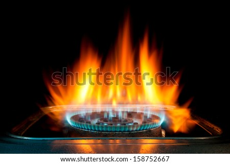 Gas burning - stock photo