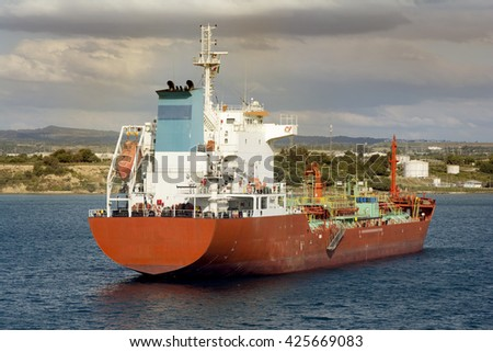 gas carrier - stock photo
