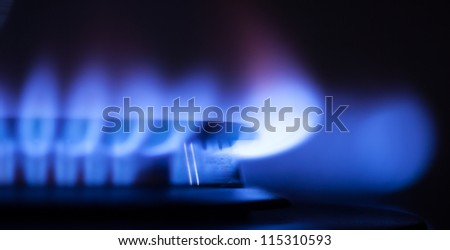 gas flame part - stock photo