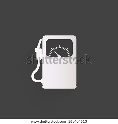 Gas, fuel station icon - stock photo