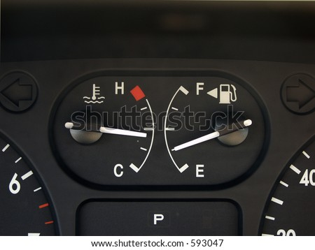 gas gauge - stock photo