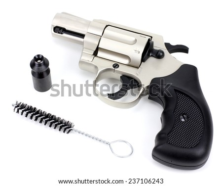 Gas gun isolated on a white background - stock photo