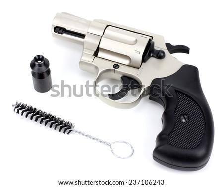 Gas gun isolated on a white background - stock photo