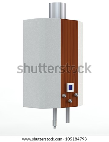 gas heater on a white background - stock photo