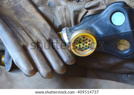 gas mask - stock photo