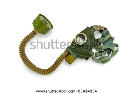 Gas mask isolated on the white background - stock photo
