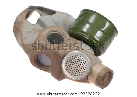 Gas Mask Isolated on White - stock photo